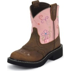 Justin Junior Gypsy Round Toe Pink Diamond Boots 8 found on Bargain Bro India from StateLineTack.com for $79.95