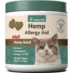 NaturVet Hemp Allergy Aid Cat Soft Chews 60ct