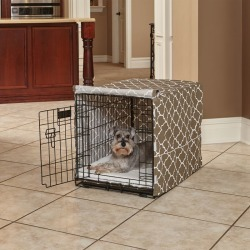 Quiet Time Covella Brown Dog Crate Cover 42in found on Bargain Bro India from Horse.com for $56.99