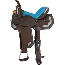 Tough 1 Sonora Barrel Saddle 15in Dark Roughout found on Bargain Bro India from StateLineTack.com for $499.00