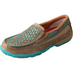 Twisted X Ladies Turq Weave Slip-On Driving Mocs 5 found on Bargain Bro India from Horse.com for $104.95