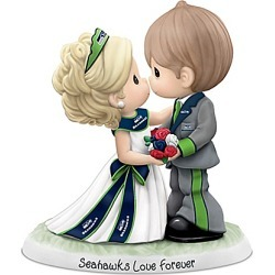 Precious Moments Seattle Seahawks Love Forever NFL Figurine found on Bargain Bro India from Bradford Exchange for $99.99