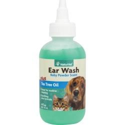 NaturVet Pet Ear Wash with Tea Tree Oil 8 oz