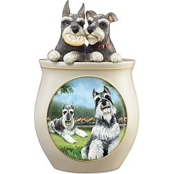 Cookie Capers: The Schnauzer Handcrafted Cookie Jar found on Bargain Bro India from Bradford Exchange for $99.99
