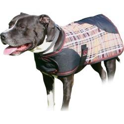 Kensington Plaid Dog Coat XL Deluxe Black