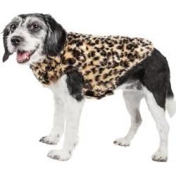 Pet Life Luxe Poocheetah Mink Fur Dog Coat Large