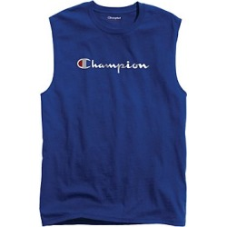 Champion Men's Classic Jersey Muscle Tee, Script Logo Surf The Web M