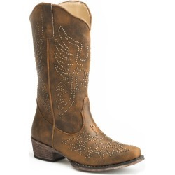 Roper Ladies Eaglets Snip Toe Boots 6.5 B Brown found on Bargain Bro Philippines from StateLineTack.com for $80.99