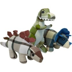 Multipet Plaidosaurus Plush Dog Toy T Rex