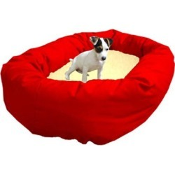 Majestic Pet Sherpa Bagel Dog Bed XL Red