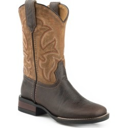 Roper Kids Square Toe 9in Tan Burnished Boots 1 found on Bargain Bro India from StateLineTack.com for $66.99