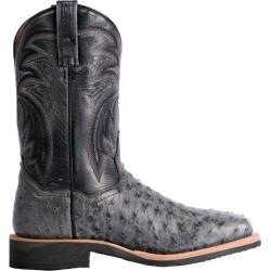 Dan Post Mens Full Quill Ost Sq Gray Boots 9.5D