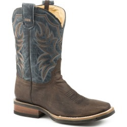 Roper Mens Sq Toe Waxy Blue Leather Boots 13 EE found on Bargain Bro India from Horse.com for $179.99