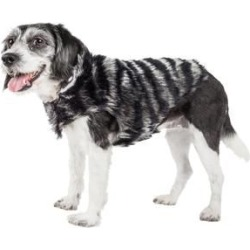 Pet Life Luxe Chauffurry Mink Fur Dog Coat Large