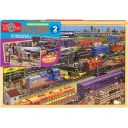 Shure Trains Jumbo Wooden Puzzles