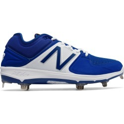New Balance Low-Cut 3000v3 Metal Baseball Cleat Mens Shoes Blue with White