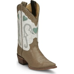 Justin Ladies Mosaic Sq Toe Boots 7 B Tan found on Bargain Bro India from Horse.com for $164.40