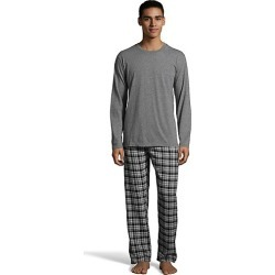 Hanes Men's Jersey Flannel Sleep Set Charcoal Grindle Heather L found on Bargain Bro India from Hanes Underwear for $21.75