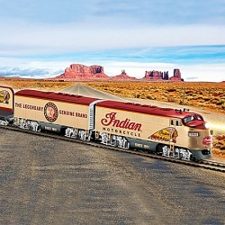Officially Licensed Indian Motorcycle Express HO Scale Electric Train Collection found on Bargain Bro from Bradford Exchange for USD $60.79