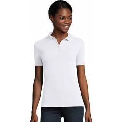 Hanes Women's FreshIQ X-Temp Pique Polo White XL found on Bargain Bro Philippines from Hanes Underwear for $7.50