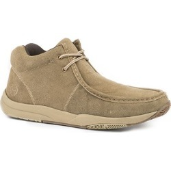 Roper Mens Clearcut Slipl-On Tan Suede Shoes 10
