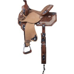 Silver Royal Savannah Barrel Saddle 13in found on Bargain Bro from StateLineTack.com for USD $424.84