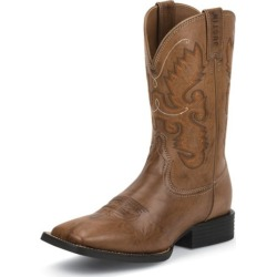 Justin Mens Farm/Ranch Sq Toe Brown Boots 11.5EE