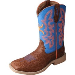 Twisted X Kids Hooey Sq Cog/Neon Blue Boots 1.5 found on Bargain Bro from Horse.com for USD $98.76