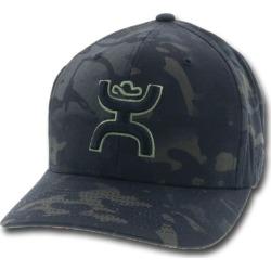 Hooey Chris Kyle Camo Flexfit Green Logo Hat L/XL
