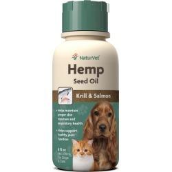 NaturVet Hemp Seed Oil Krill/Salmon for Pets 32oz