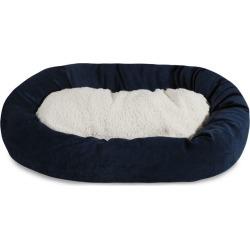 Majestic Pet Navy Villa Sherpa Bagel Bed 24 inch