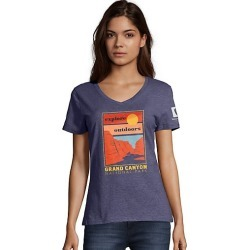 Hanes Grand Canyon National Park Women's Graphic Tee Canyon/Sunset/Navy Heather 2XL