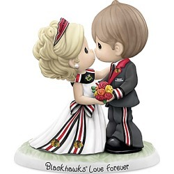 Precious Moments Chicago Blackhawks� Couples Figurine found on Bargain Bro India from Bradford Exchange for $99.99