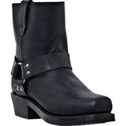 Dingo Mens Rev Up Square Toe 7in Boots 15D Blk