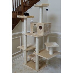 Armarkat Classic Cat Tree 72in Beige