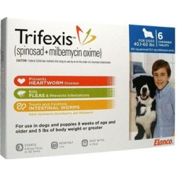 Trifexis Chewable Tablets for Dogs 40-60lbs 6 Mont