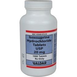 Isoxsuprine 20mg 1000 Tablets