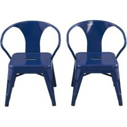 Ace Bayou Reservation Seating Marley Kids Chair - Set of 2, Navy Blue