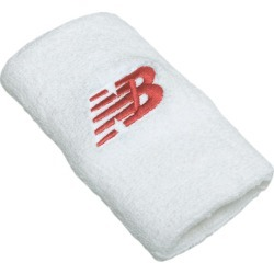 New Balance Men's & Women's New Balance Wrist Towels - White/Red (WRISTTOWELSWRD)