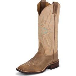 Justin Ladies Bent Rail 13in Mocha Boots 6.5