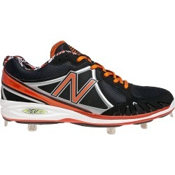 New Balance Low-Cut 3000 Metal Baseball Cleats Mens Shoes Black with Orange