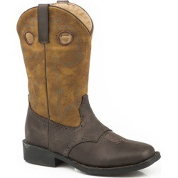 Roper Little Kids Daniel Square Toe Tan Boots 13 found on Bargain Bro India from StateLineTack.com for $62.21