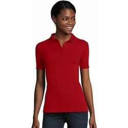 Hanes Women's FreshIQ X-Temp Pique Polo Deep Red S found on Bargain Bro Philippines from Hanes Underwear for $7.50
