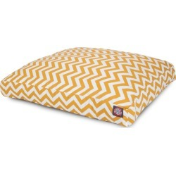 Outdoor Yellow Chevron Rectangle Pet Bed LG found on Bargain Bro India from Horse.com for $86.39