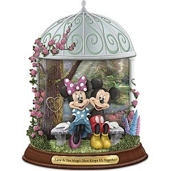 Disney Thomas Kinkade Mickey Mouse and Minnie Mouse Personalized Figurine found on MODAPINS from Bradford Exchange for USD $119.97