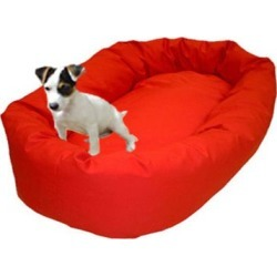 Majestic Pet Denier Bagel Dog Bed Medium Red