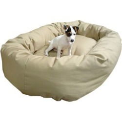 Majestic Pet Denier Bagel Dog Bed XLarge Khaki