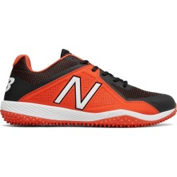 New Balance Low-Cut 4040v4 Turf Baseball Cleat Mens Shoes Orange with Black
