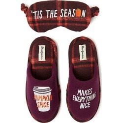 Dearfoams Women's Novelty Pile Scuff Slipper with Memory Foam Aubergine XL found on Bargain Bro India from Hanes Underwear for $10.50