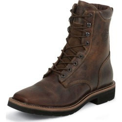 Justin Mens Stampede Sq Lace Tan Work Boots 9D found on Bargain Bro India from StateLineTack.com for $102.18